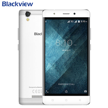 Original Blackview A8 Cell Phone 1GB RAM 8GB ROM MTK6580A Quad Core 5.0 inch Camera 8MP 1280×720 IPS  Android 5.1 Smartphone