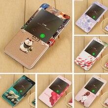 For Xiaomi Redmi Note 4 pro Smart Phone Bag Case PU Leather Flip Cover Girl Cat Fish Flower Coque For Xiaomi Redmi Note 4X 64G