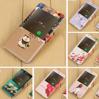 For Xiaomi Redmi Note 4X Phone Bag Case PU Leather Flip Cover Girl Cat Fish Flower