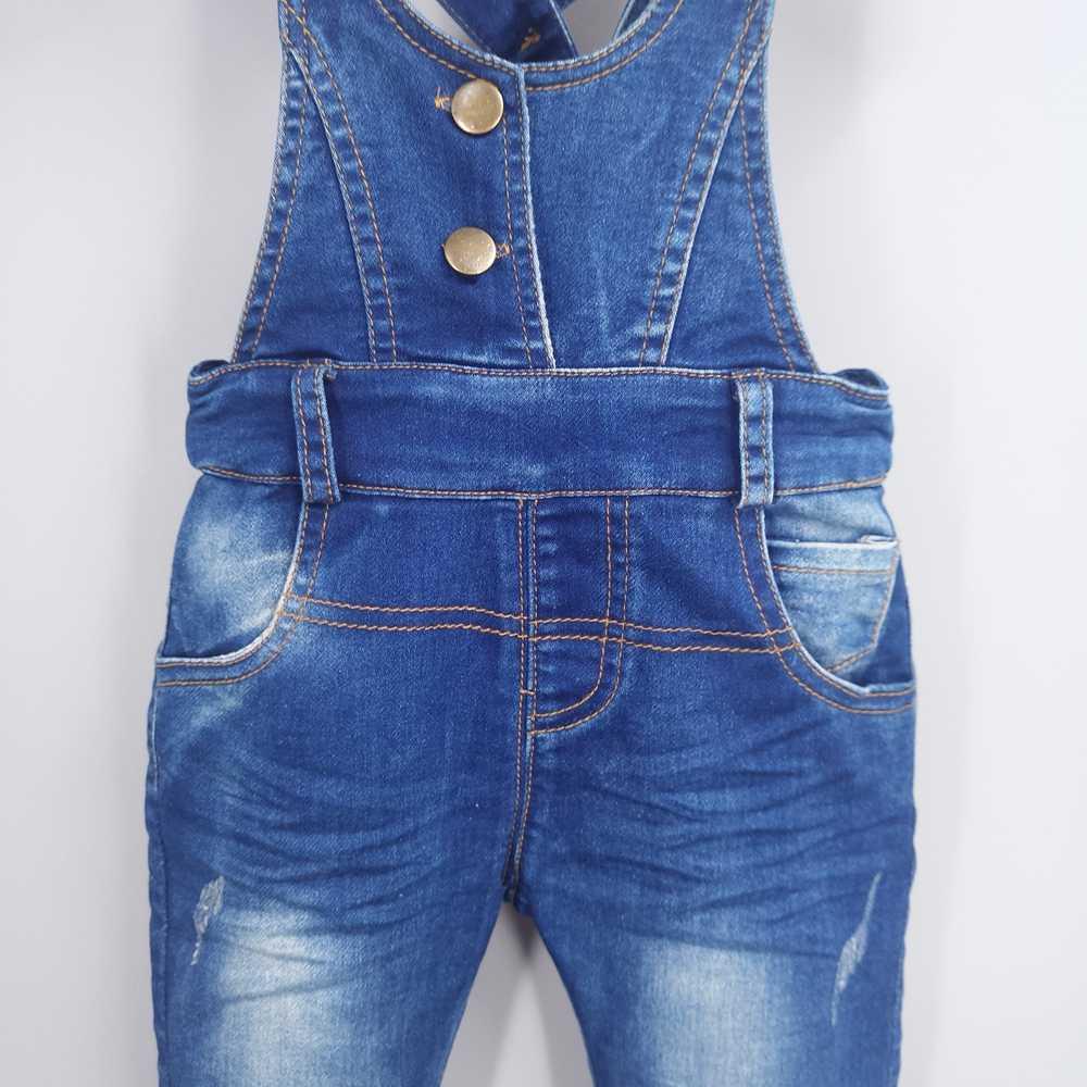 2-3 T Çocuk denim tulum Bebek Pantolon Bebe Giysileri Kız Erkek Kot Tulum Çocuk Tulum bebek kıyafetleri Bebek işçi tulumu