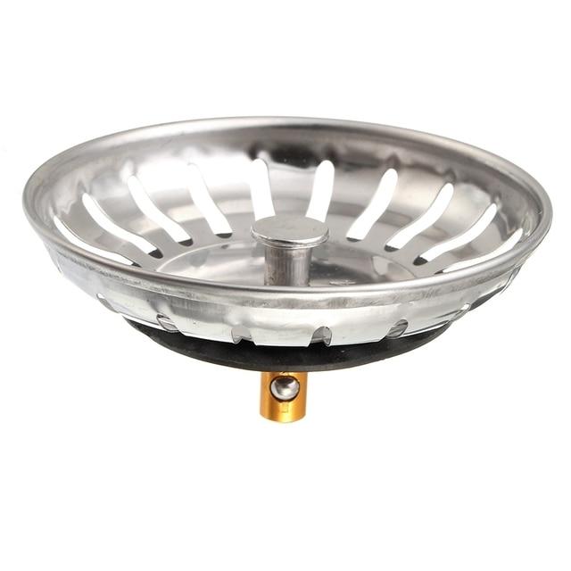 1pc 304 Stainless Steel Waste Plug Sink Filter Bathroom Round Basin ...