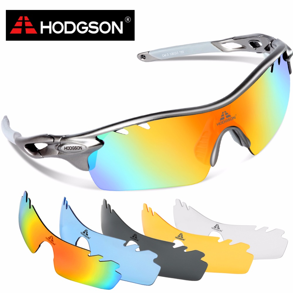2017 HODGSON Brand Polarized Cycling Glasses Set UV400 Sports Eyewear Bicycle Goggles Bike Sunglasses with 2