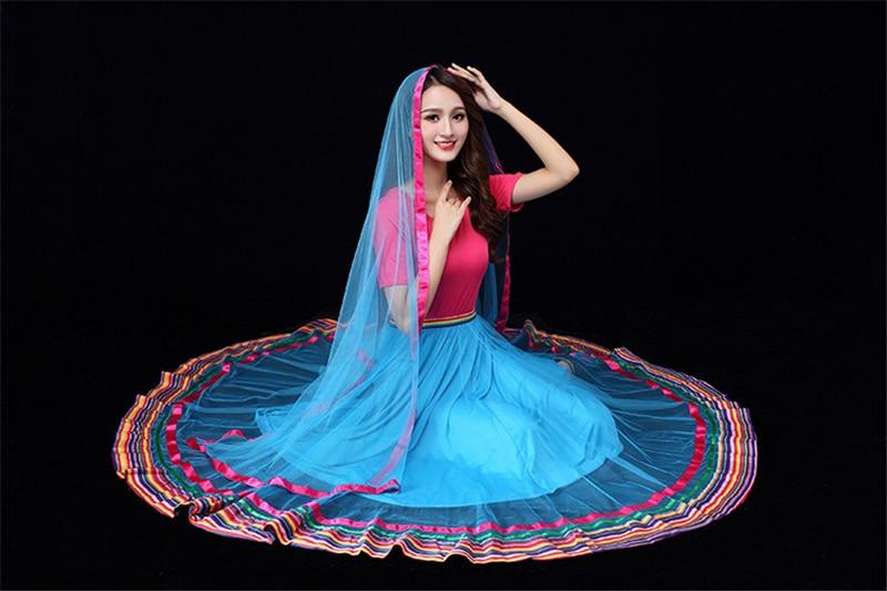 2nd Piece 15% Discount Indian Sari Belly Dance Dress Tibet Social Dancing Kathak BharataNatyam Plus Size 6XL Free Shipping