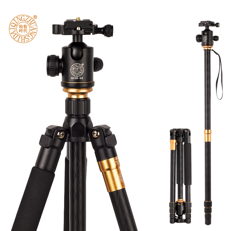 Q999 Professional Photographic Portable Tripod To Monopod+Ball Head For Digital SLR DSLR Camera Fold 43cm Max Loading 15Kg zomei z888 portable stable magnesium alloy digital camera tripod monopod ball head for digital slr dslr camera