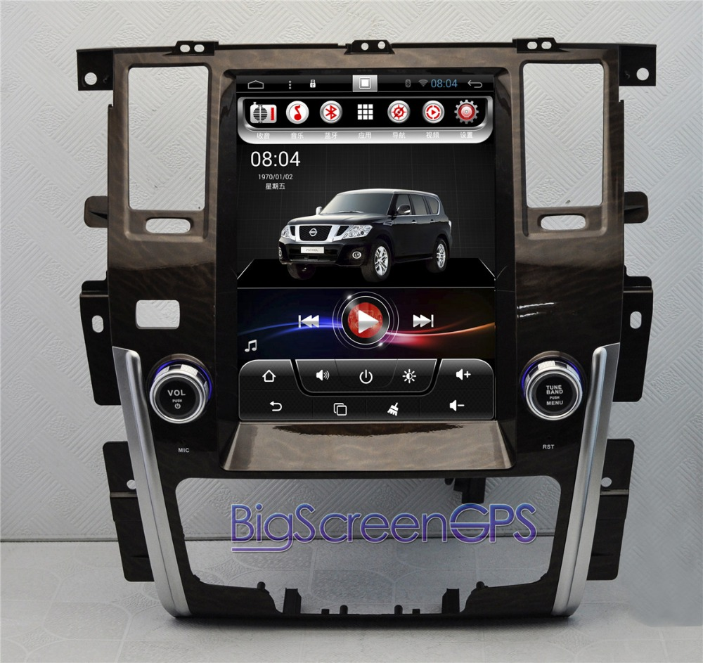 12,1 дюймов Android 2 ГБ 4 ядра автомобиля нет dvd плеер gps навигации для Nissan Patrol 2015 2016 2017 2018 RDS мультимедиа ips Экран