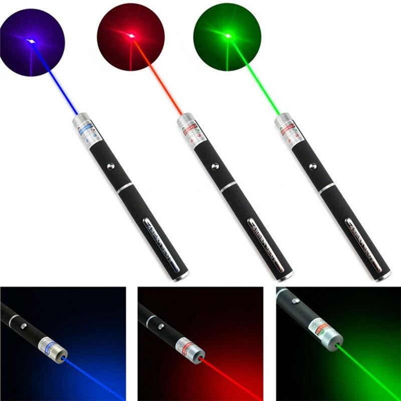 Лазерная указка, высокая мощность 5 МВт, зеленый, синий, красный цвет лазера, луч лазера с длиной волны 530 Нм, 405 Нм, 650 Нм
