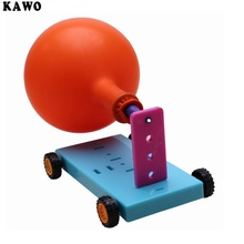 1pcs KAWO DIY Science Experiment Balloon Power Recoil Car Gift For Kids