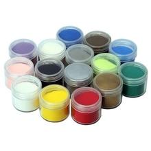 7/8 pcs 20 ml Goffratura Polvere FAI DA TE Vernice Metallizzata Rubber stamp scrapbooking strumenti