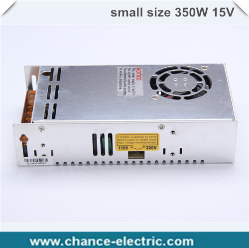 dc 15V Metal  Small Volume Switch Power Lighting Supply AC110 220V For LED Strip 23A 350W indoor Power Supplies For led display отсутствует metal supply