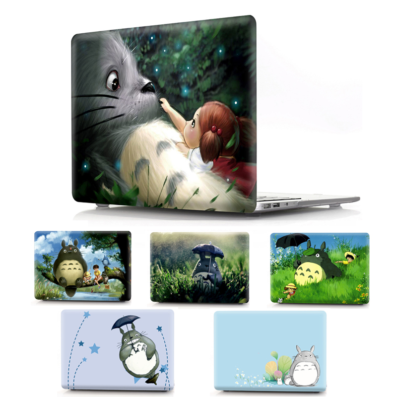 Totoro Laptop Case for MacBook Air Pro Retina 11 12 13 15 Inch Cover for Macbook Pro 13 15 New A1706 A1707 A1708 A1989 A1990 for macbook pro 13 15 2017 2016 case with non touch bar a1706 a1707 a1708 laptop print case cover air pro retina 13 3 15 4