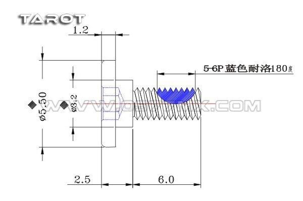 Tarot M3 Big head Socket collar screw M3X8mm for copter gimbal TL2882-01