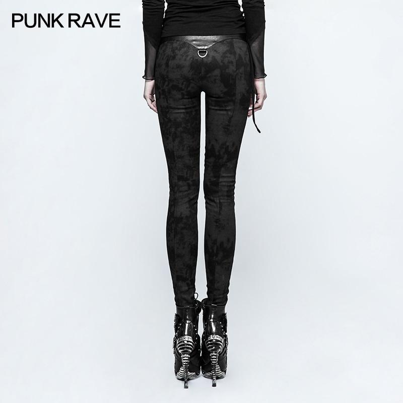 Pantalon Femmes Laçage Punk Slim Rave Sexy Mode Gothique Fit Soirée Rock De Noir Moulant Cosplay Leggings qxHXHwYT