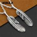 Vintage Eagle feather pendant Necklace Real 925 sterling silver jewelry for women pendant Silver 925 Fashion jewelry