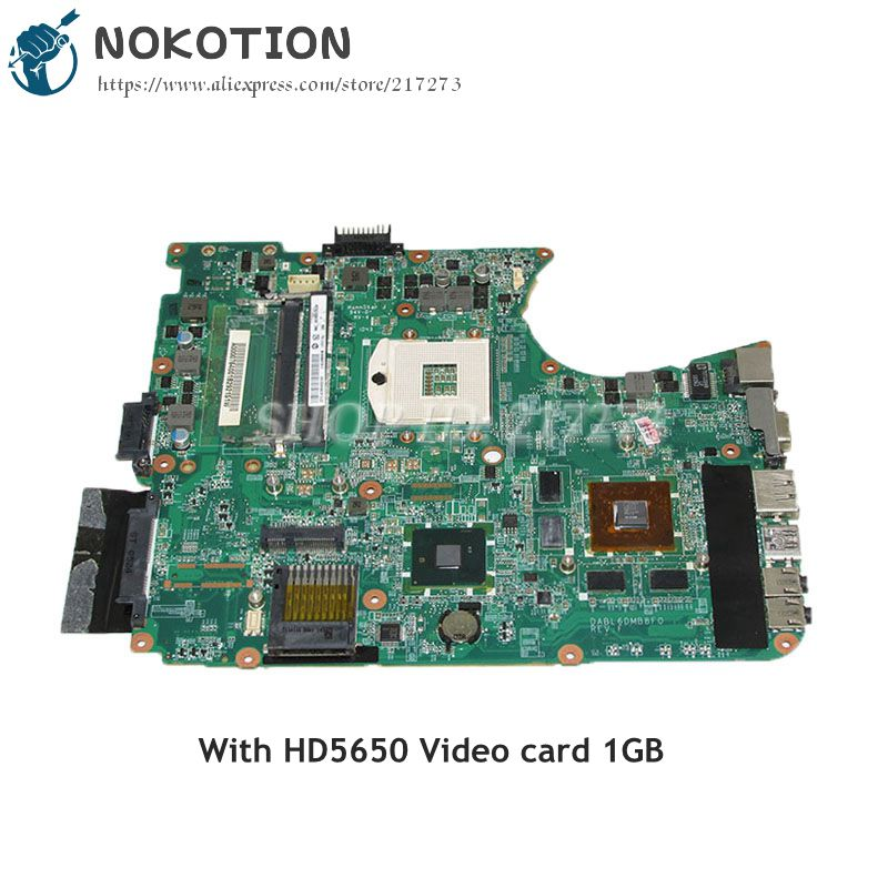 NOKOTION DABL6DMB8F0 A000076400 Laptop Motherboard For Toshiba Satellite L650 L655 L655D MAIN BOARD HM55 DDR3 HD5650 Video card nokotion genuine h000064160 main board for toshiba satellite nb15 nb15t laptop motherboard n2810 cpu ddr3