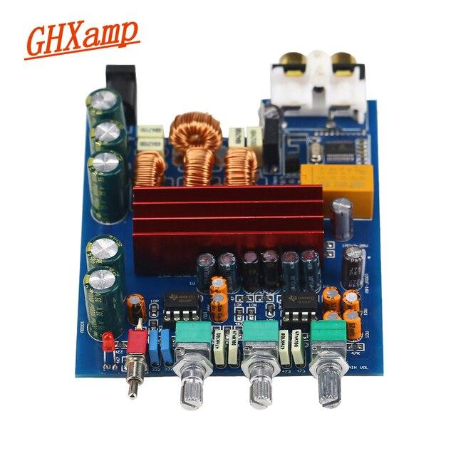 Placa amplificadora Bluetooth portátil TPA3116 100W * 2 TPA3116D2 2,0, amplificador Digital con ajuste de preamplificador para coche, uso doméstico, RCA DC24V