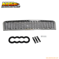 For 02 05 Audi A4 RS Style Front Grill Grille Chrome 2003 2004 USA Domestic Free Shipping