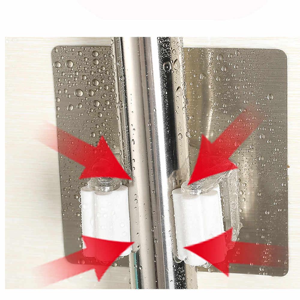 1PC Não Soco Adesivo Wall Mounted Titular Mop Vassoura Cabide Clipe Mop Perfeita Gancho De Armazenamento Do Banheiro Cozinha de Casa Organizador