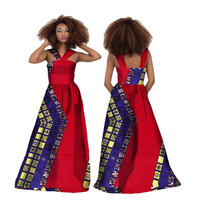 African Dresses for Women 2019 Sexy Party Dresses Elegant Women African Dashiki Dress for Women Bazin Dress African Clothing