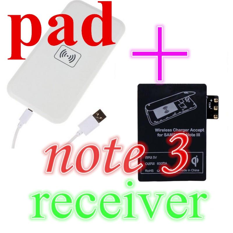 Cartão de Qi de Carregamento Sem Fio Pad + Receptor para Samsung Galaxy  Note2 N7100   JBE c8274980251