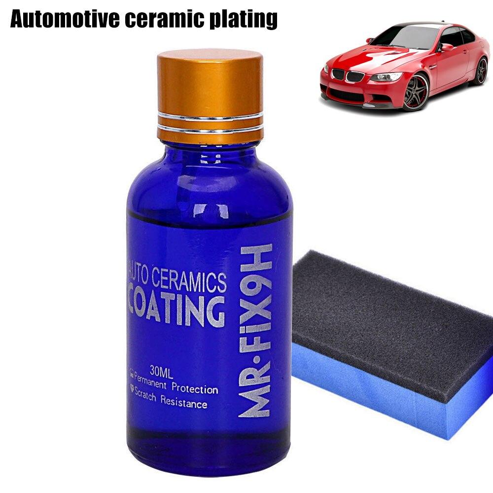 Nueva portátil 30 ml alto brillo cerámica recubrimiento coche Kit Anti-rasguño Exterior cuidado sellador de pintura 9 H DXY88