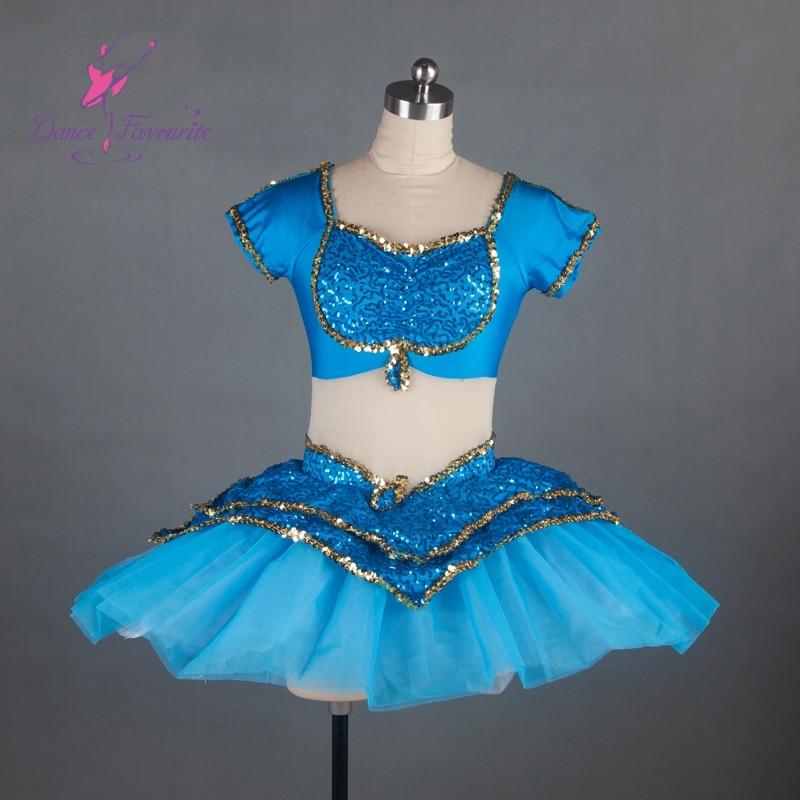 light sea blue stage performance ballet costume tutu women competition ballet costume tutu ballerina girl ballet tutu