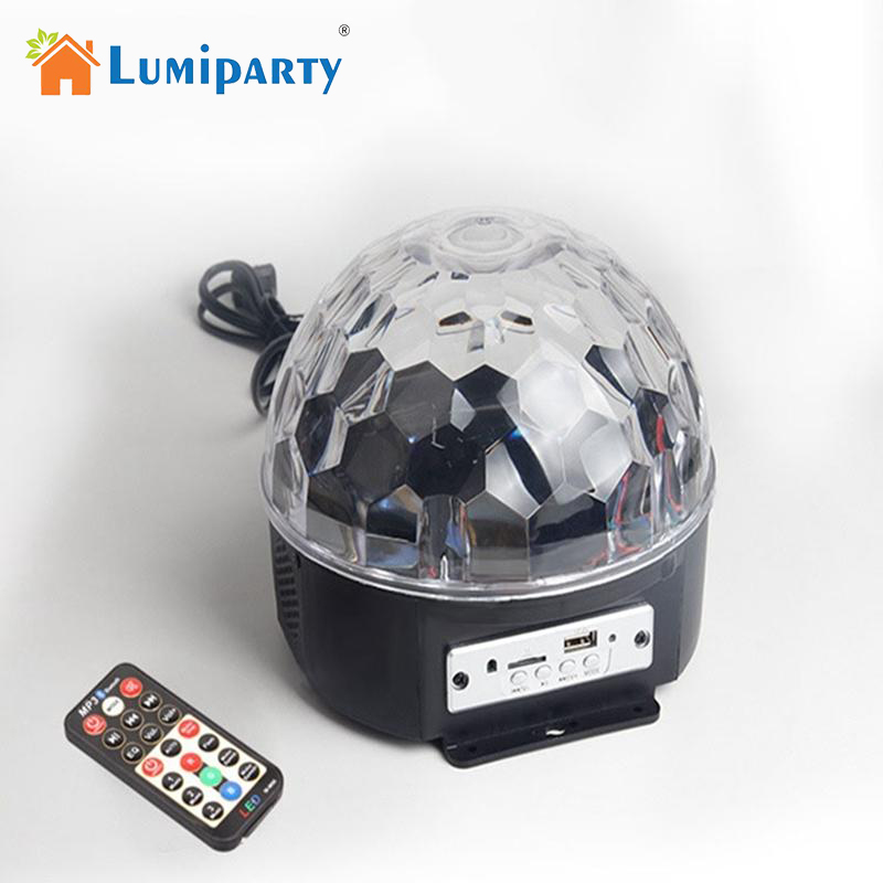 Lumiparty 6 LED Remote Control Bluetooth MP3 Crystal Magic Ball Led Stage Lamp Disco Laser Light Party Light Sound Control KTV mipow btl300 creative led light bluetooth aromatherapy flameless candle voice control lamp holiday party decoration gift