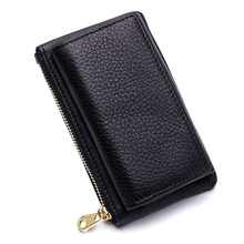 European And American Litchi Pattern Unisex Key Wallet 2018 Hot Fashion Multi-function Housekeeper Brand Zipper Coin Purse