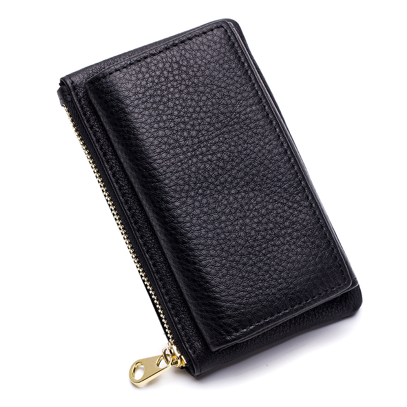 European And American Litchi Pattern Unisex Key Wallet 2018 Hot Fashion Multi-function Key Housekeeper Brand Zipper Coin Purse