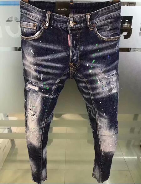DSENQI NIEUWE Mannen Jeans Geript voor Mannen Skinny DSQ Jeans Broek Mannen Jeans Rits Uitloper Man Broek A232-in Spijkerbroek van Mannenkleding op  Groep 1