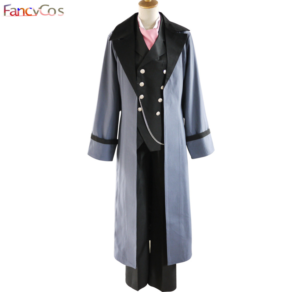 Halloween Men's Black Butler Sebastian Michaelis Anime Version Cosplay Costumes Adult Costume Movie Custom Made  High Quality