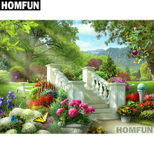 HOMFUN Full Square/Round Drill 5D DIY Diamond Painting Scenic garden Embroidery Cross Stitch 5D Home Decor Gift A01684 homfun full square round drill 5d diy diamond painting garden
