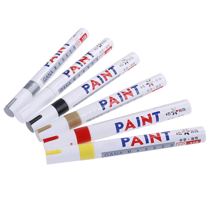Warna-warni Universal Tahan Air Mobil Motor Auto Roda Ban Ban Paint Marker Pen 14.3*1.5 Cm