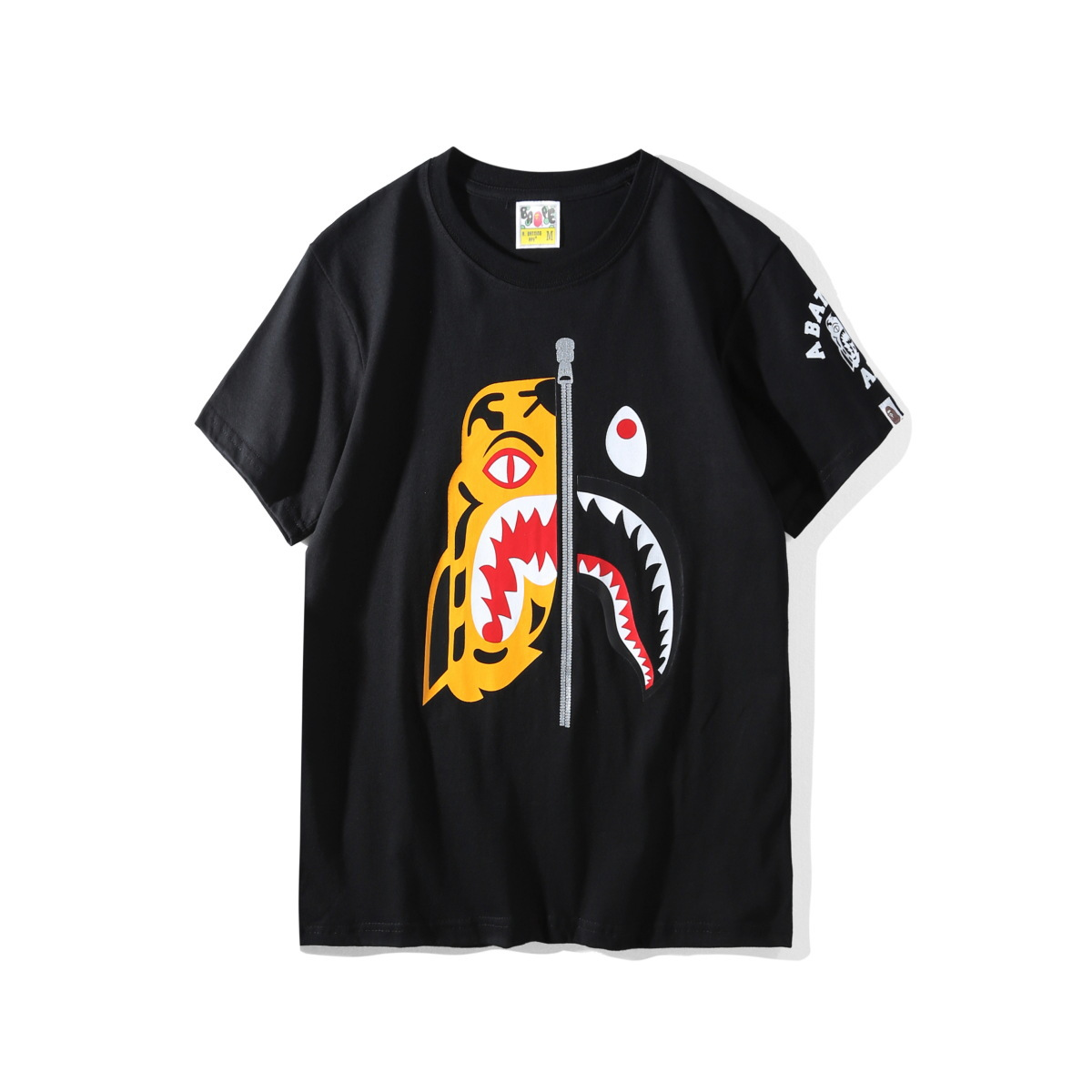 2019 New Arrival A Bathing Ape For Bape Short Casual O-neck Print Knitted Men&women T-shirts