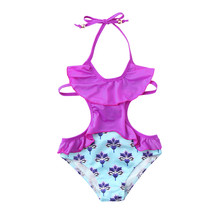 ARLONEET girls swimsuits 2019 children #8217 s swimwear for girls Ruffles Floral Print Swimwear Swimsuit Backless Romper Jumpsuit cheap Fashion O-Neck Sets Pullover Baby Girl Swimwear Polyester Sleeveless REGULAR Fits true to size take your normal size Vest