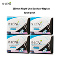 4pack/lot Ultra Thin 290mm Night Use Cotton Sanitary Pads