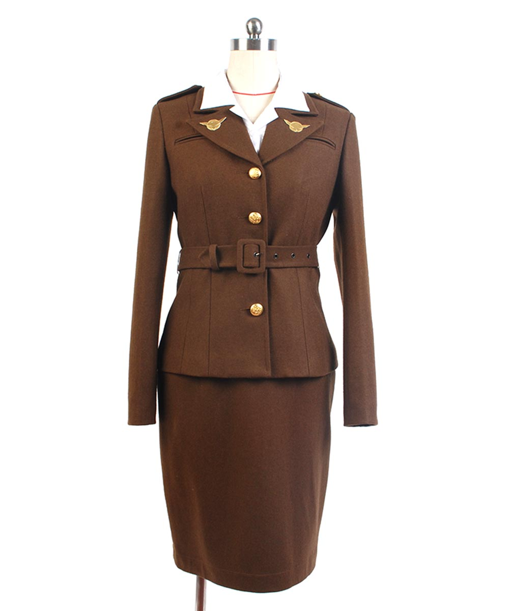 Captain America Cosplay Costume The First Avenger Agent Peggy Carter Cosplay Costume Uniform Suit Halloween Carnival halloween cosplay suit