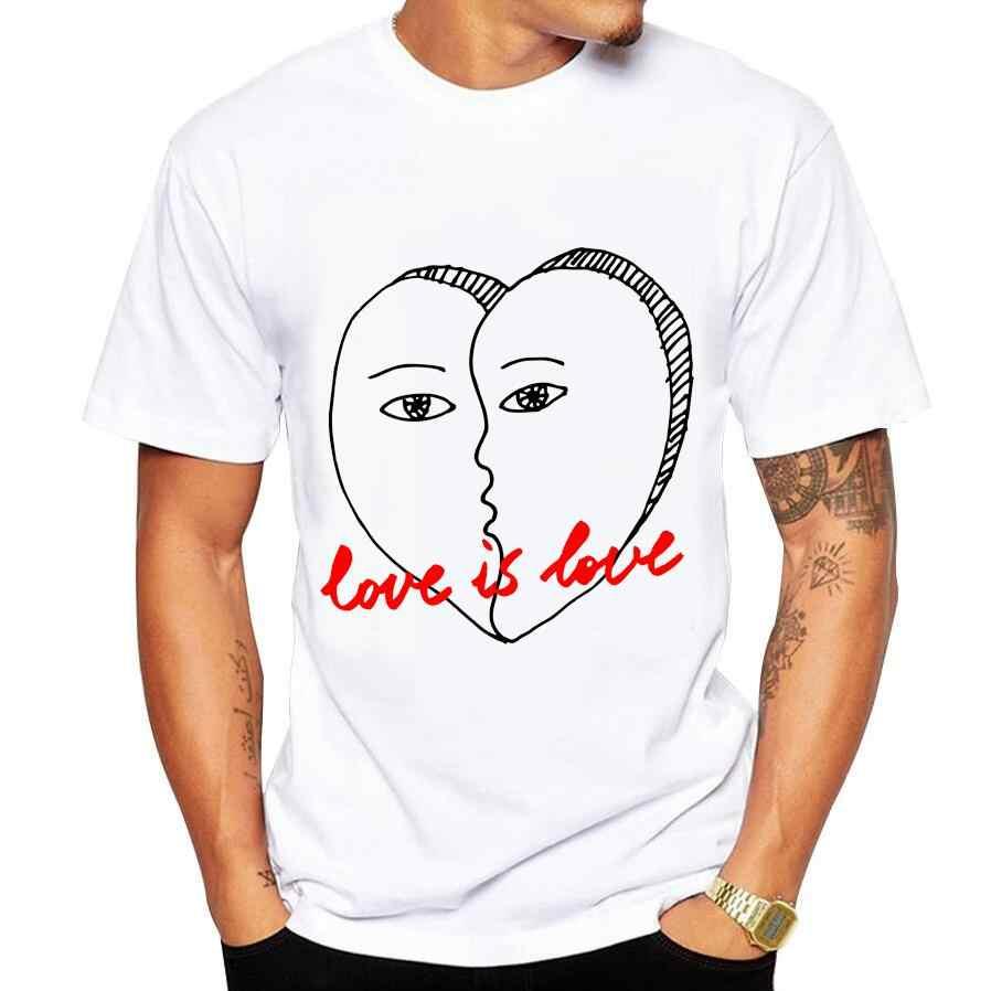 メンズtシャツホワイトtシャツカジュアル綿中国単語愛プリント漫画ショートスリーブtシャツ男性ブランドtシャツ5xl