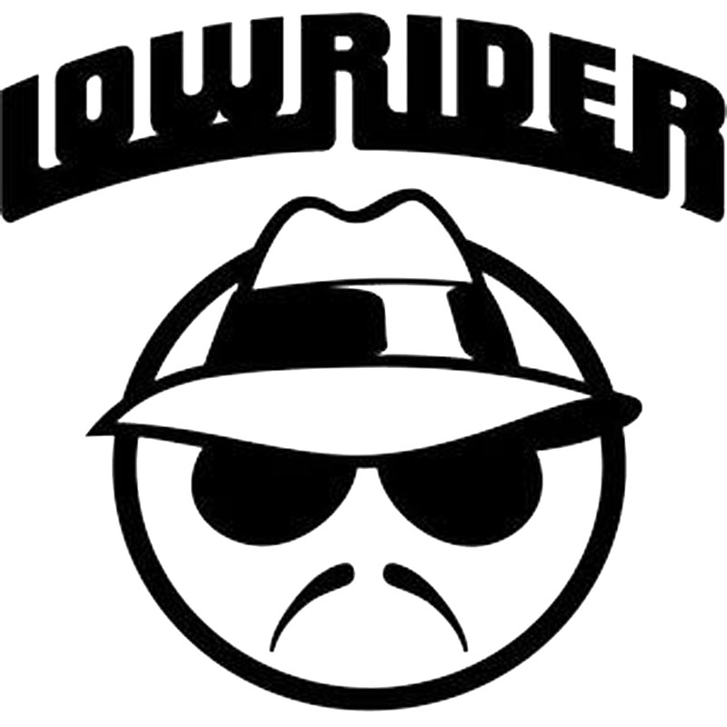 11X10.6CM LOWRIDER Bardian Vinyl Decal Car Sticker Motorcycle Car-styling Black/Silver S8-0478