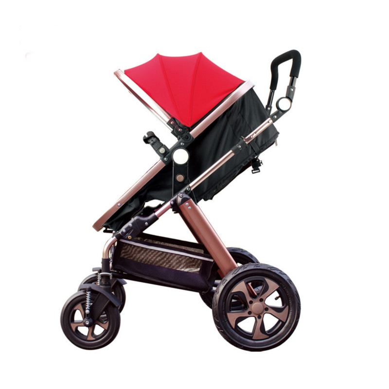Baby stroller high landscape stroller trolley shock absorber light reclining can sit aluminum frame baby strollers high landscape lightweight aluminum can sit reclining stroller shock absorbers bi fold trolley baby kinderwagen