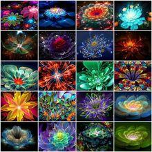 Круглая Алмазная картина fezrgea полноформатная вышивка с цветами