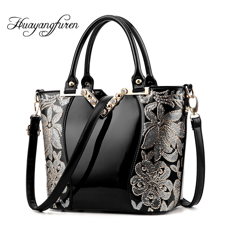 Women Handbag Patent Leather  Crocodile Crossbody Bags Brand Tote Fashion Women  Bags Clutch Shoulder Bag Bolsas Q2