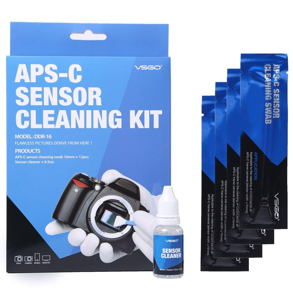 Cámara DSLR de limpieza Sensor muestras Kit 12 piezas con líquido de solución de limpieza para Nikon Canon Sony APS-C cámaras digitales