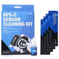 Dslr câmera sensor de limpeza cotonetes kit 12pcs com líquido mais limpo solução para nikon canon sony APS-C câmeras digitais