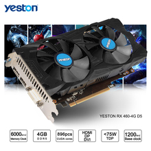 Yeston Radeon RX 460 GPU 4GB GDDR5 128 bit Gaming Desktop computer PC Video Graphics Cards support DVI/HDMI