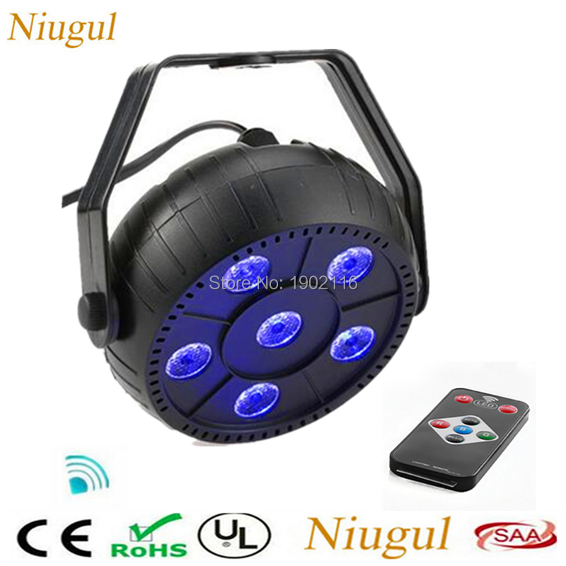 Portable 6 Led 3IN1 Par Stage Light Wireless Remote Disco Party Lights Laser DJ KTV Wash ...