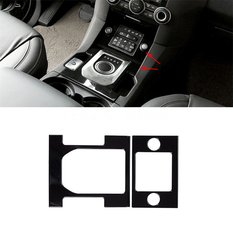 For Land Rover Discovery 4 LR4 2010-2016 Car-Styling ABS Gloss Black Center Console Gear Shift Frame Cover Trim Accessories console center gear shift shifter panel cover trim frame stickers car styling fit for chevrolet camaro 2017 interior accessories