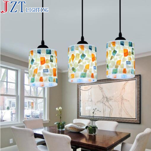M Natural Shell Lamp Shade E27 5W Led Warm Cool White Bulb Dining Room 3 Head Modern Pastoral Style Kitchen Table