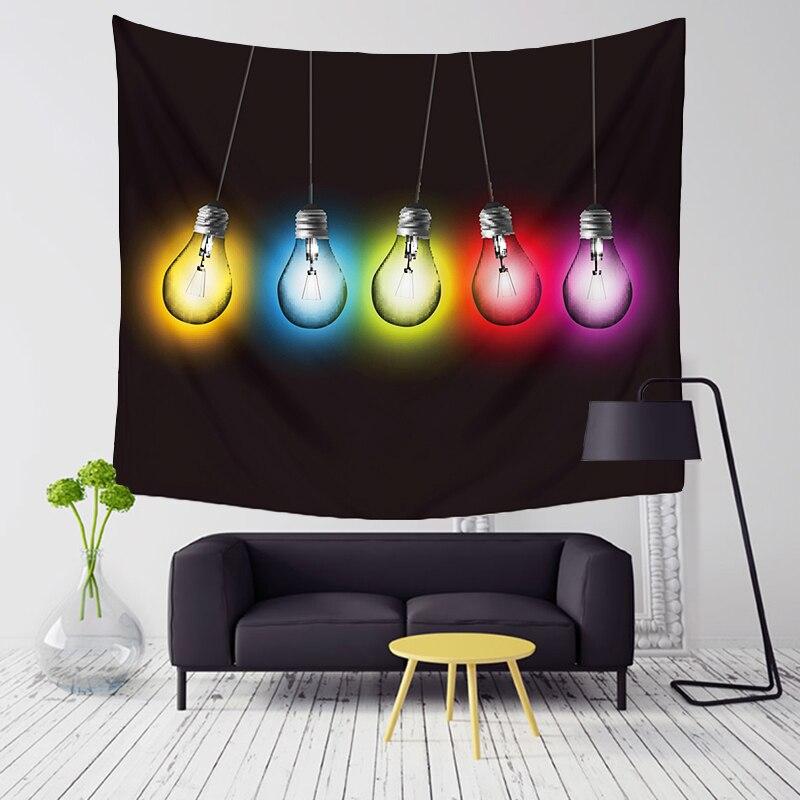 Comwarm lampada della luce modello arazzo arazzo gobelin sandy beach picnic yoga tiro tappeto della pittura di arte moderna home decor t002