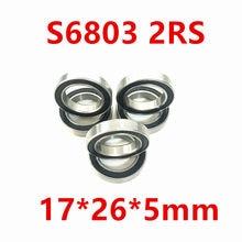 Rolamentos Hub As Rubber Verzegelde 440C GCR15 6803 Rs Axk Hybride Keramische Kogellagers S6803 6803 2rs 17*26*5Mm Si3n4 Fiets Deel