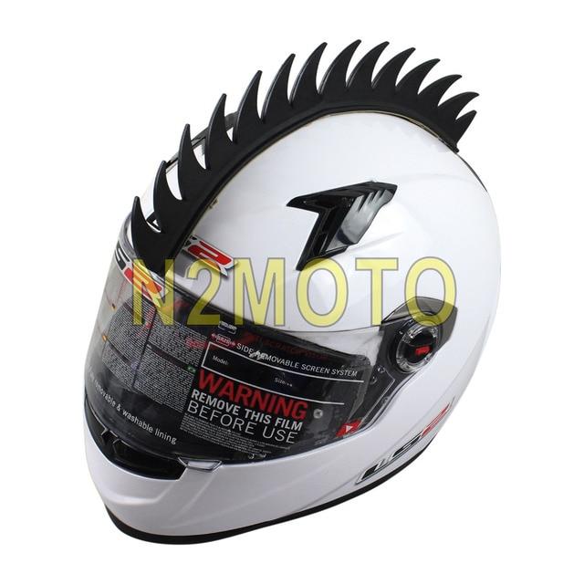 Aliexpresscom  Buy Black Motorcycle Helmet Sticker Mohawk Spike - Cool custom motorcycle stickers